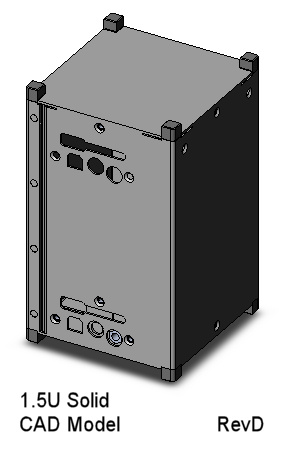 CubeSat Kit 1.5U Solid-wall CAD Model