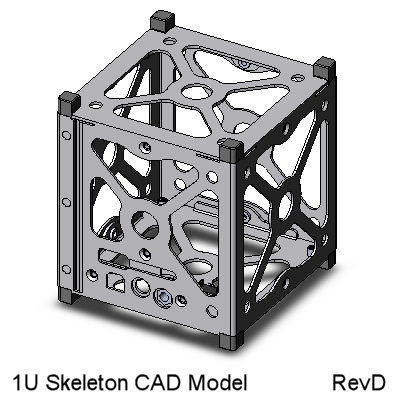 CubeSat Kit 1U Skeletonized CAD Model