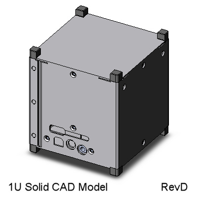 CubeSat Kit 1U Solid-wall CAD Model