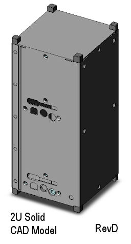 CubeSat Kit solid-wall 2U CAD model