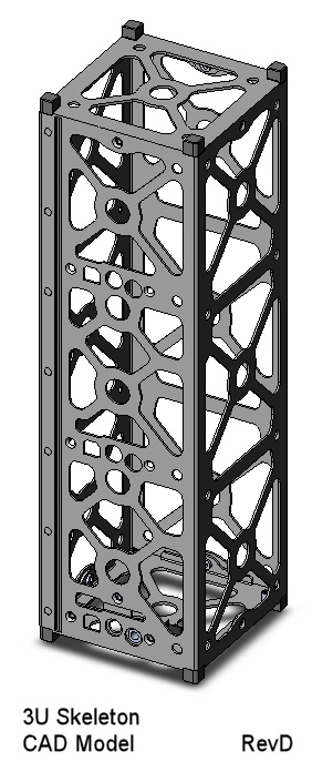 CubeSat Kit 3U Skeletonized CAD Model