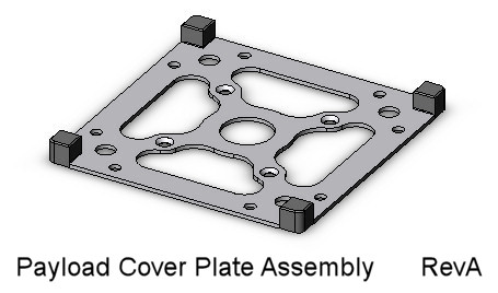 CubeSat Kit Payload Cover Plate Assembly