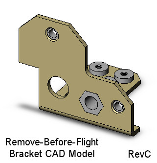 CubeSat Kit Remove-Before-Flight Bracket CAD model